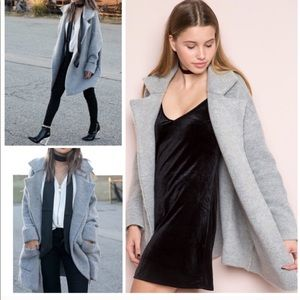 Brandy Melville wool coat jacket top shirt blouse